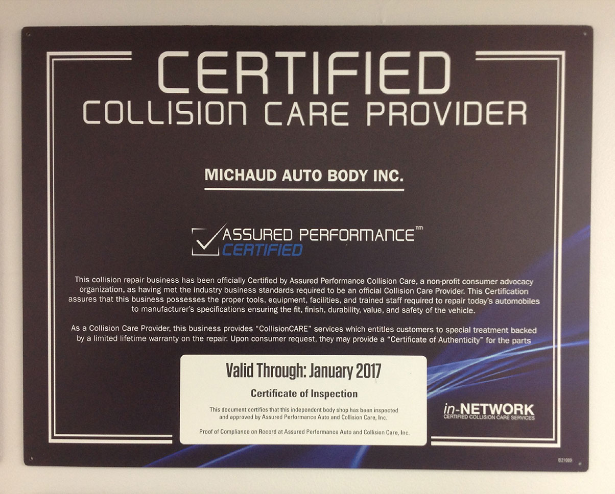 Certified Collision Care Provider