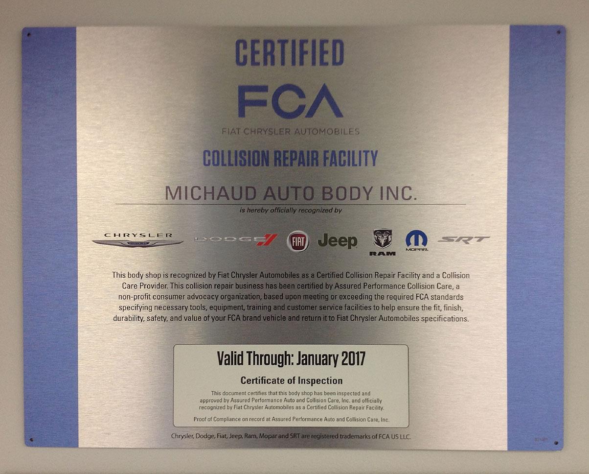Certified FCA