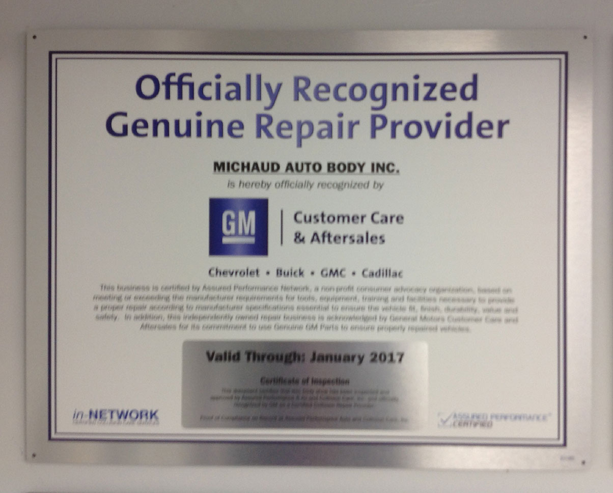 GM Certification