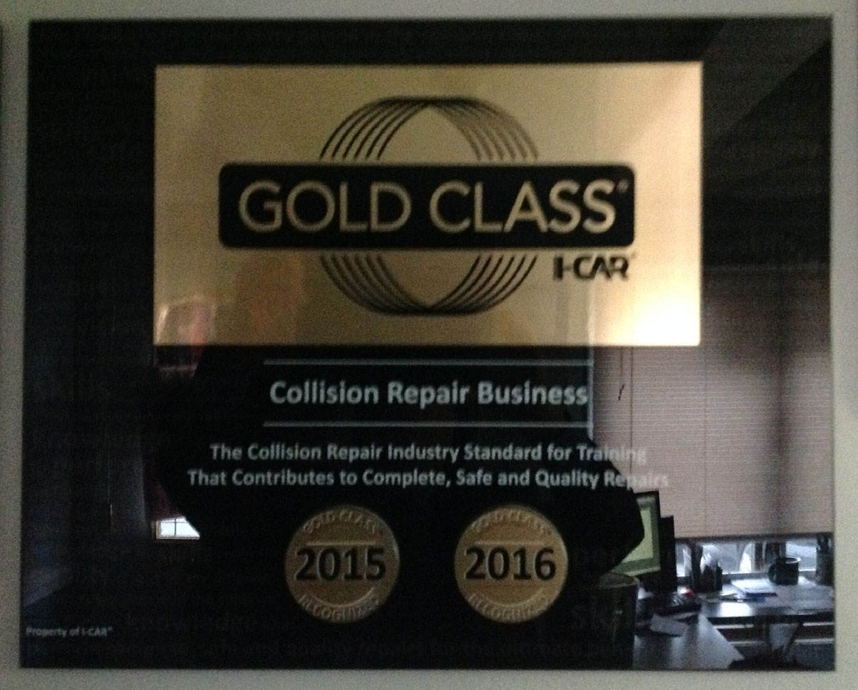 Gold Class Collision Repair Business